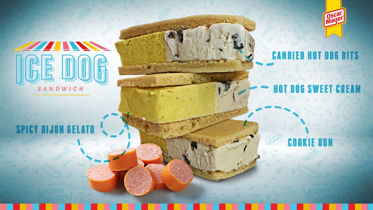 Think mustard ice cream is bad? Wait until you see Oscar Mayer's hot dog ice cream sandwich.