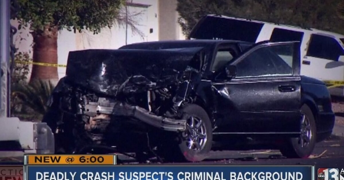 UPDATE: Man arrested in North Las Vegas crash that killed 3
