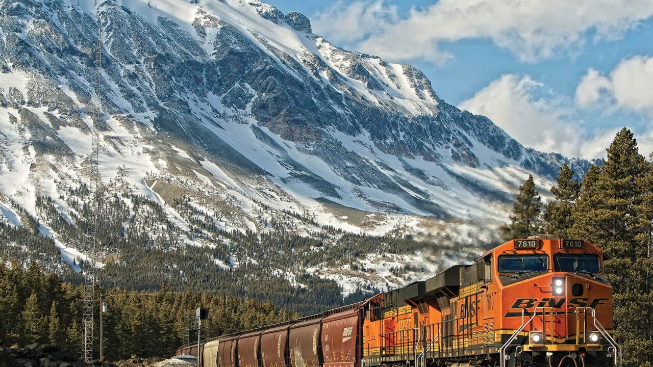 How does BNSF deal with winter in Montana?