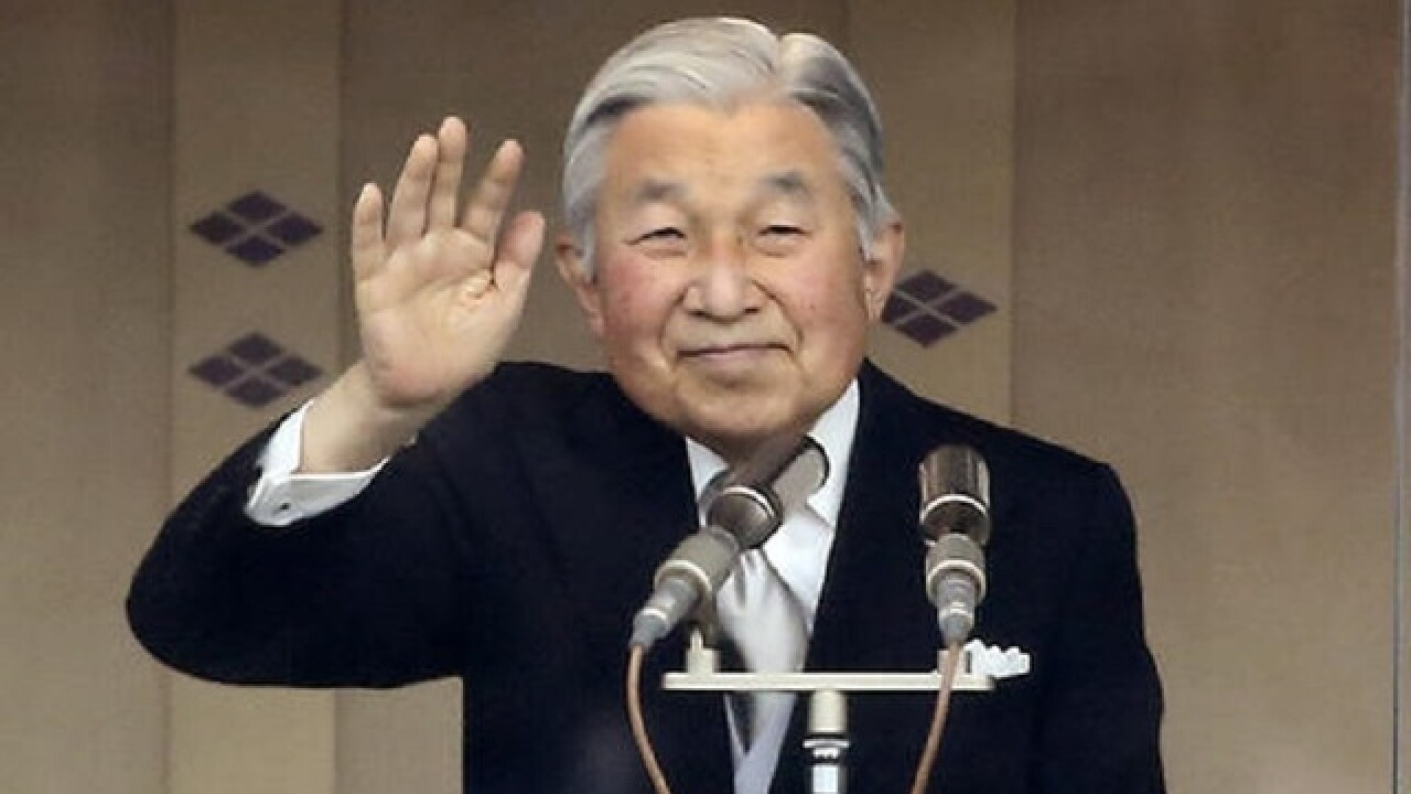 Japanese emperor makes rare public address, expresses concern about old age