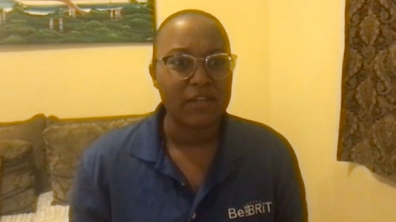 Tatyana Jean-Louis, transition director for older teens at Brit's Home orphanage in Haiti