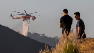 Fast-Moving Getty Fire Threatens Homes And Forces Evacuations In Affluent Section Of Los Angeles