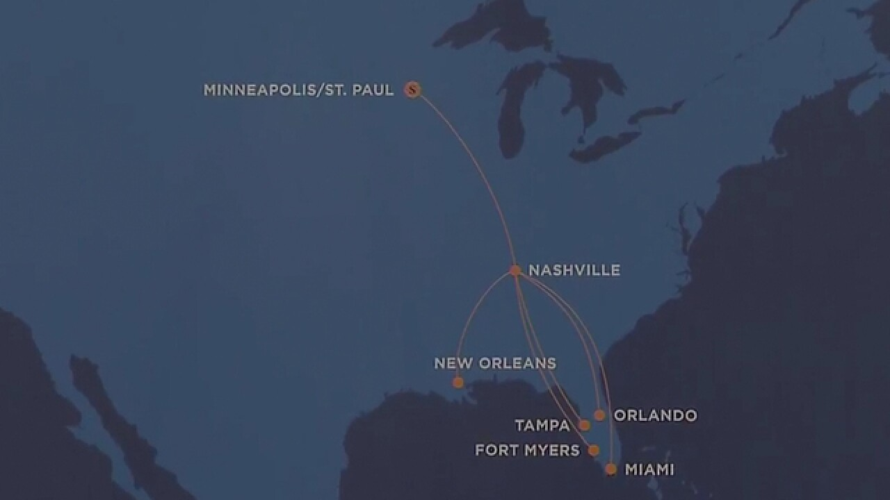 Sun Country Airlines Offering 6 Flights From Nashville Airport