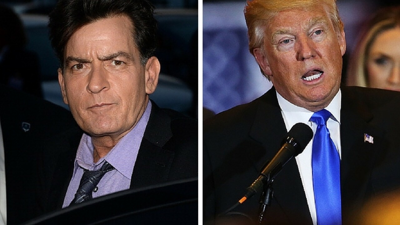 Charlie Sheen says Donald Trump lied to him about 'diamond' cufflinks
