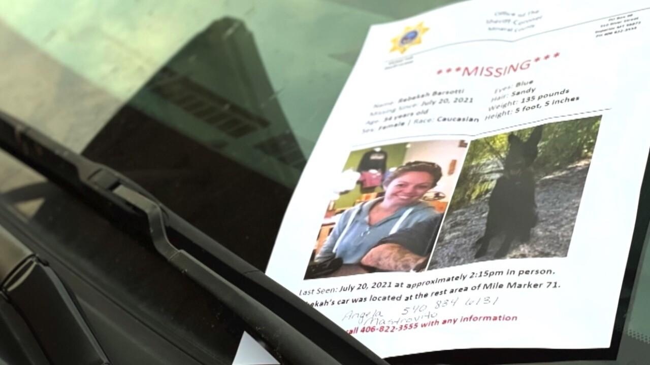 Search for Rebekah Barsotti continues in Alberton