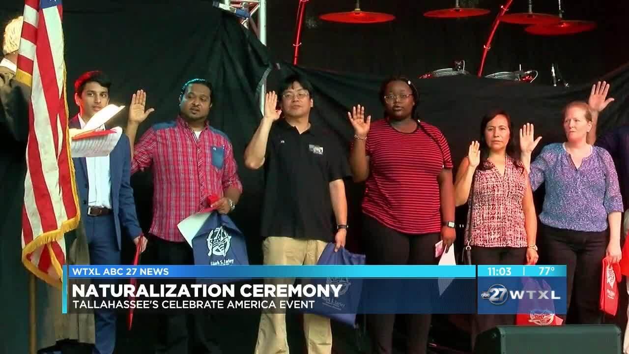 Naturalization ceremony held at Celebrate America event