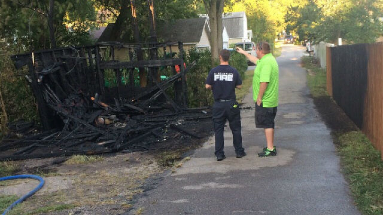 Garage burns to the ground in Madisonville