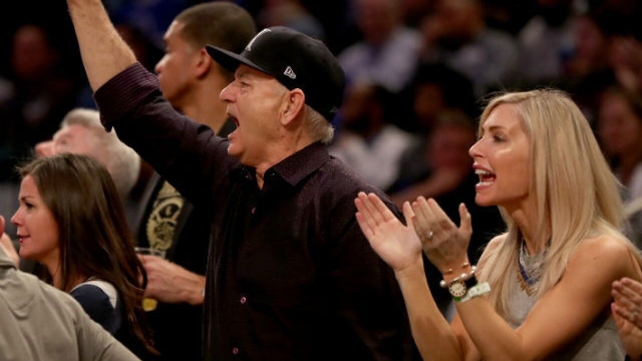 Bill Murray roots for XU at Big East Tournament
