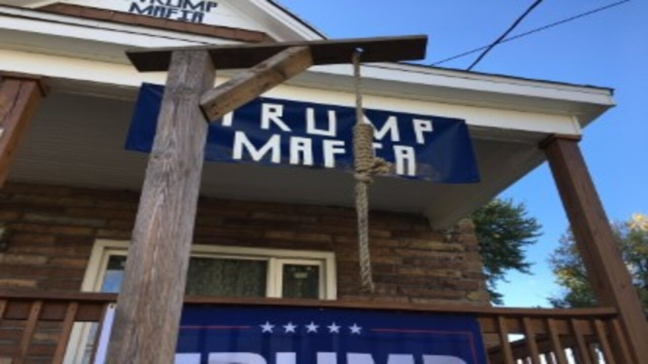 Buffalo man makes political statement with noose on lawn