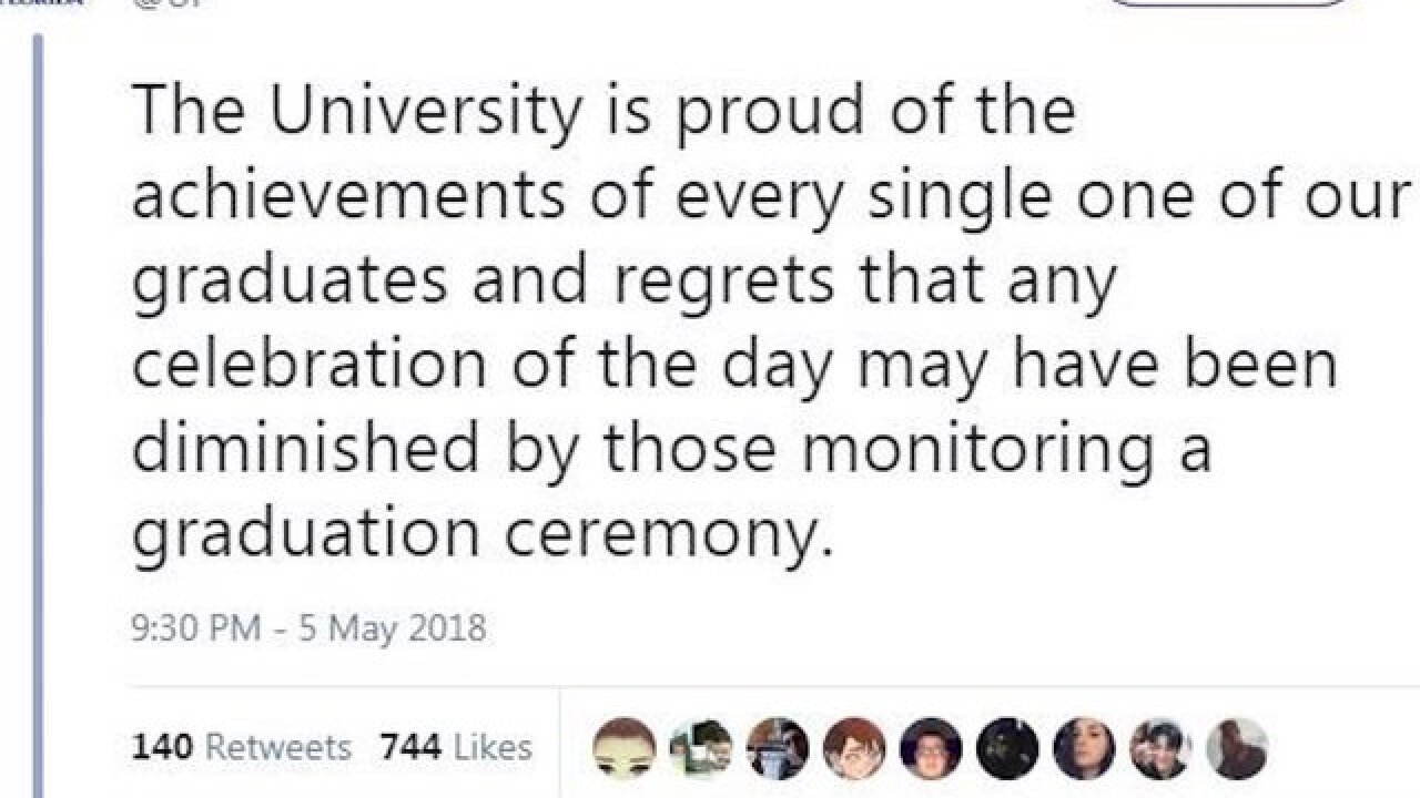 University of Florida grads rushed off stage get official apology