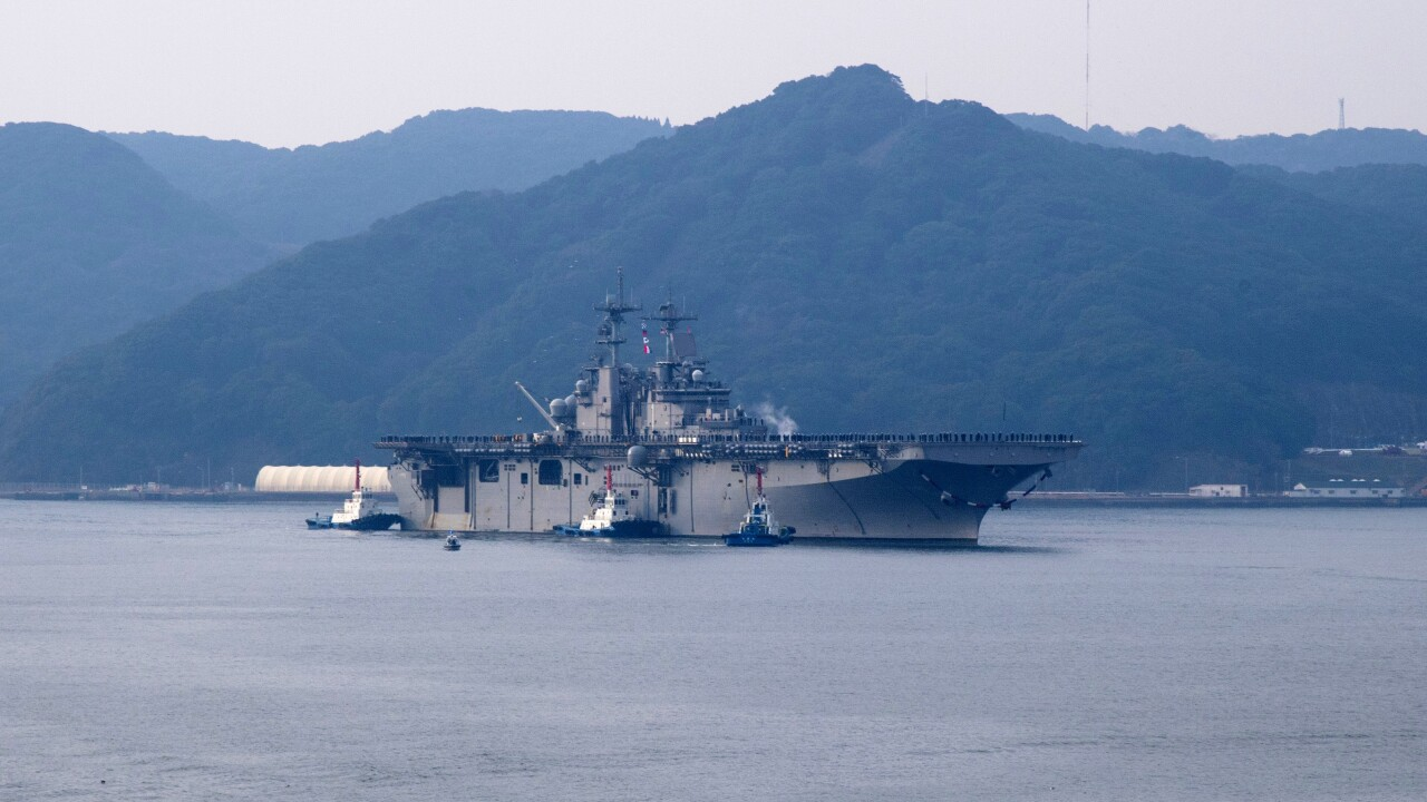 USS Wasp arrives in Japan after 28,400 mile journey from Norfolk