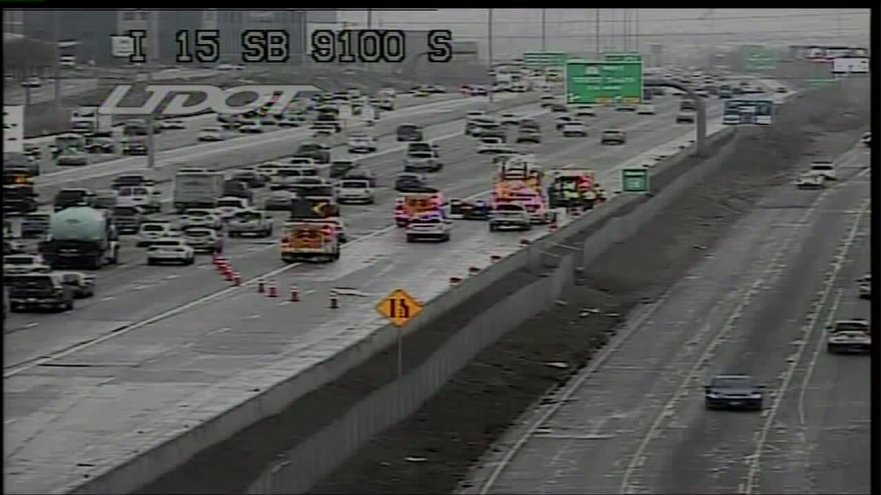 Woman on electric wheelchair forces closure of I-15 near Sandy
