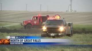 Fire burned 40 acres north of Great Falls