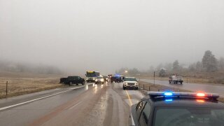 Icy roads lead to crashes, snarled traffic in northeast Colorado Wednesday morning