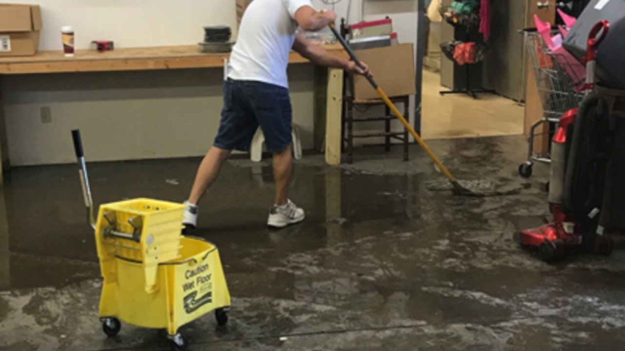 Floods causes severe damage at homeless shelter