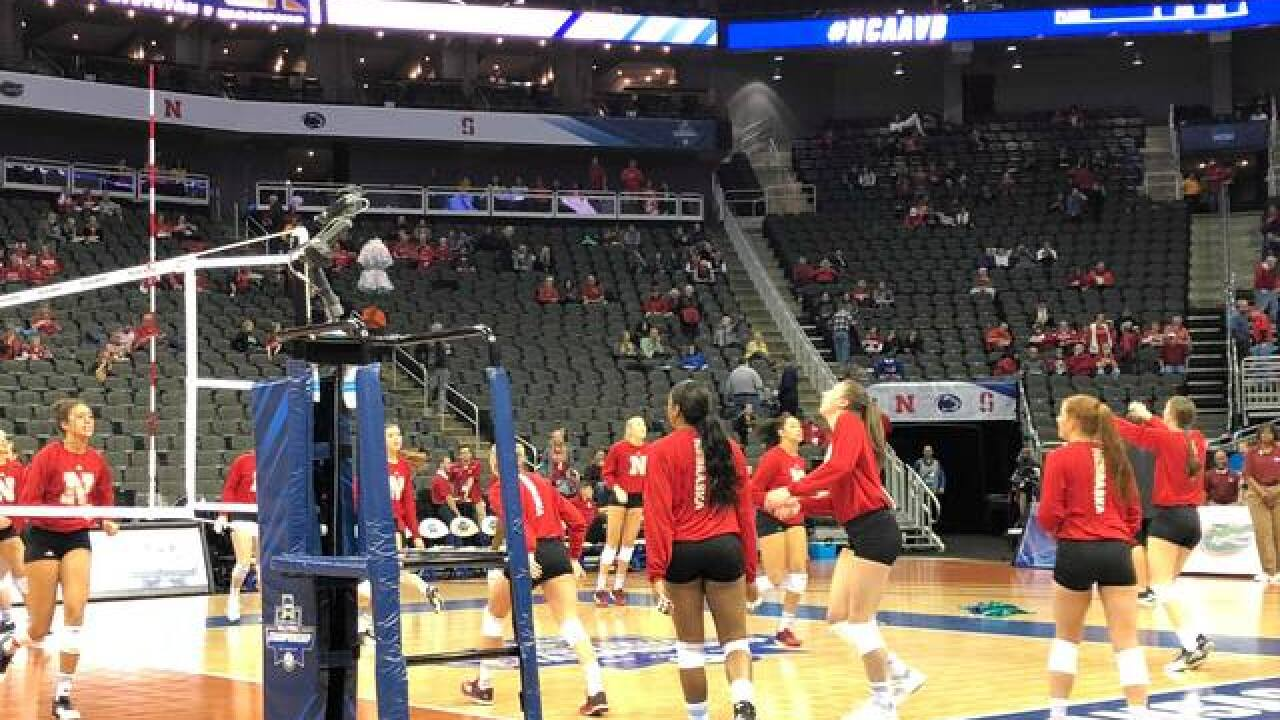 GALLERY: Nebraska volleyball preps for Final Four with Penn State