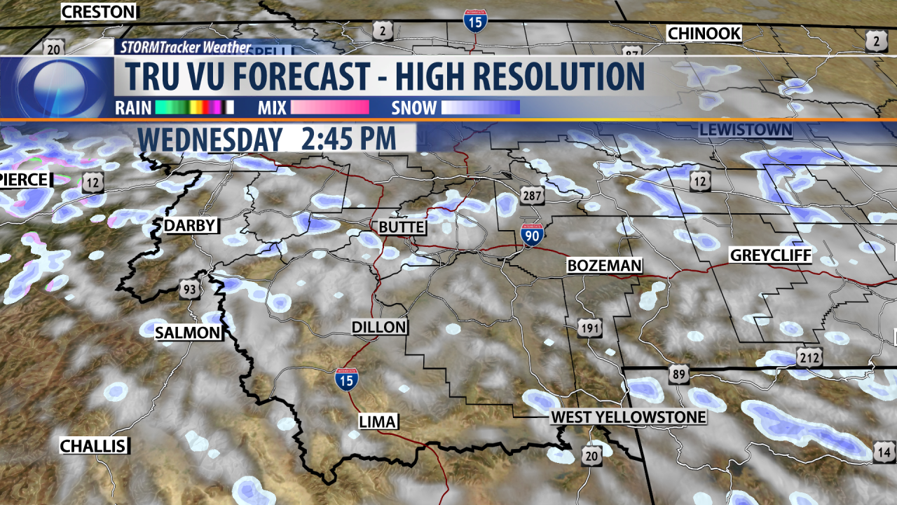 Flurries early Wednesday with cool sunshine for the afternoon