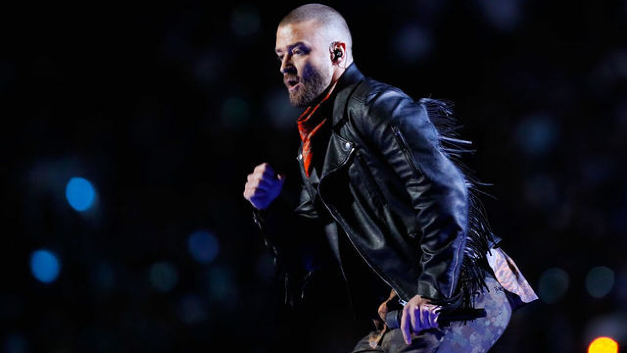 Watch: Justin Timberlake pays tribute to Prince during the Super Bowl halftime show
