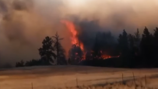 Wildfire in Musselshell County