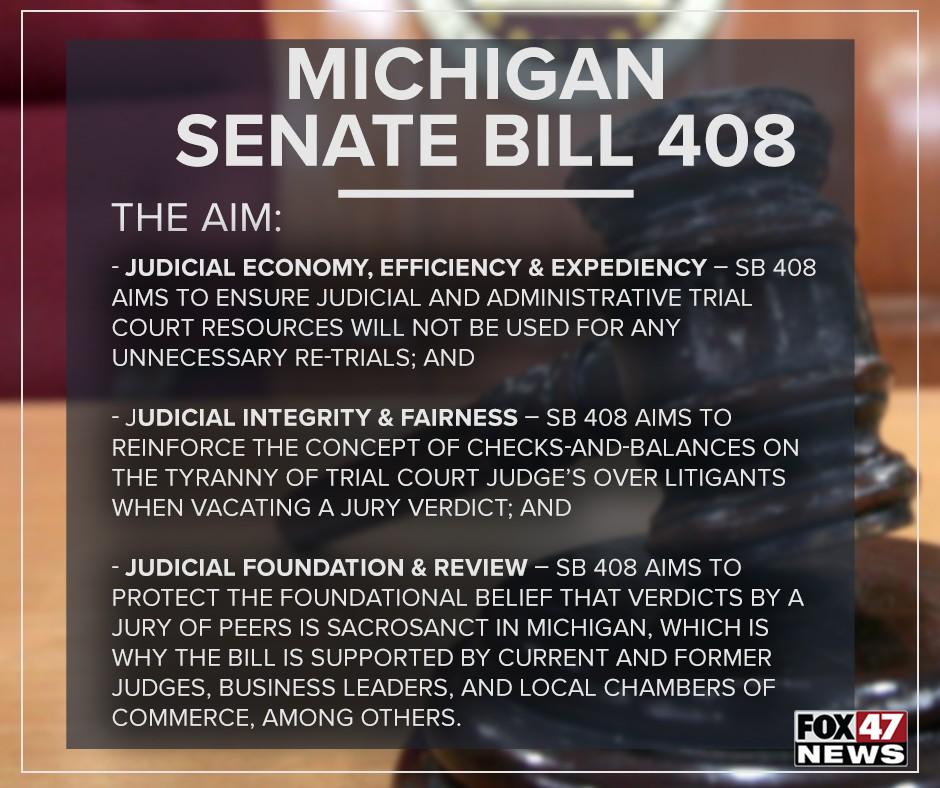 Michigan Senate Bill 408 aims to