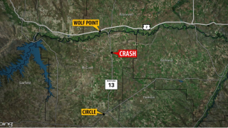 One dead in two vehicle crash in eastern Montana