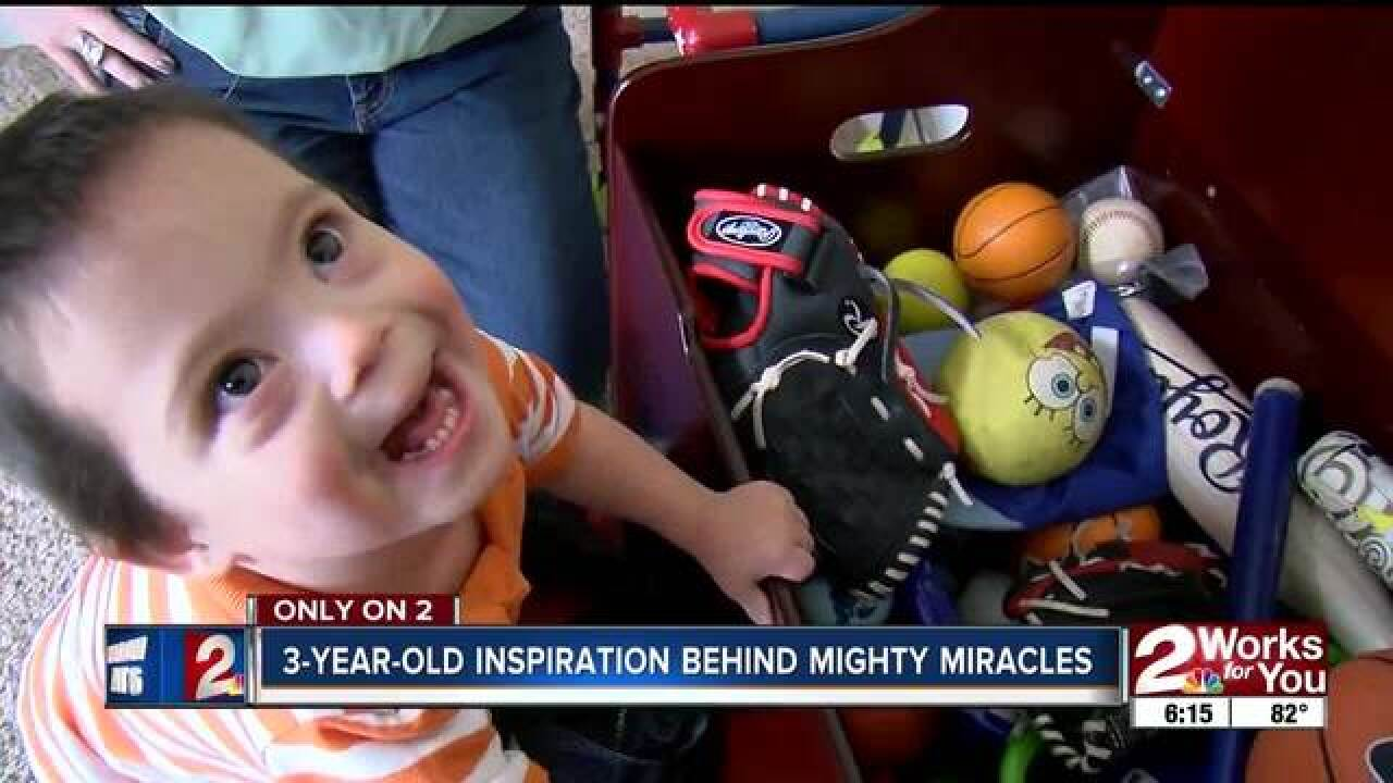 3-YO face of foundation supporting NICU babies