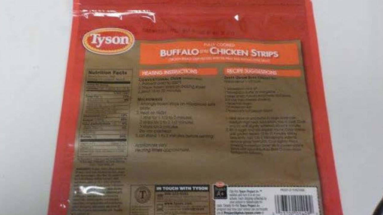You still can't eat Tyson Buffalo style chicken strips sold in Michigan