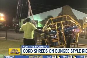 Fla. woman records cable snapping on slingshot ride