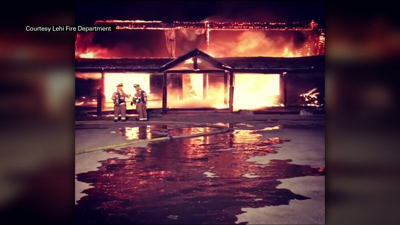 Fire destroys Wasatch Wing and Clay bird hunting club in Utah County