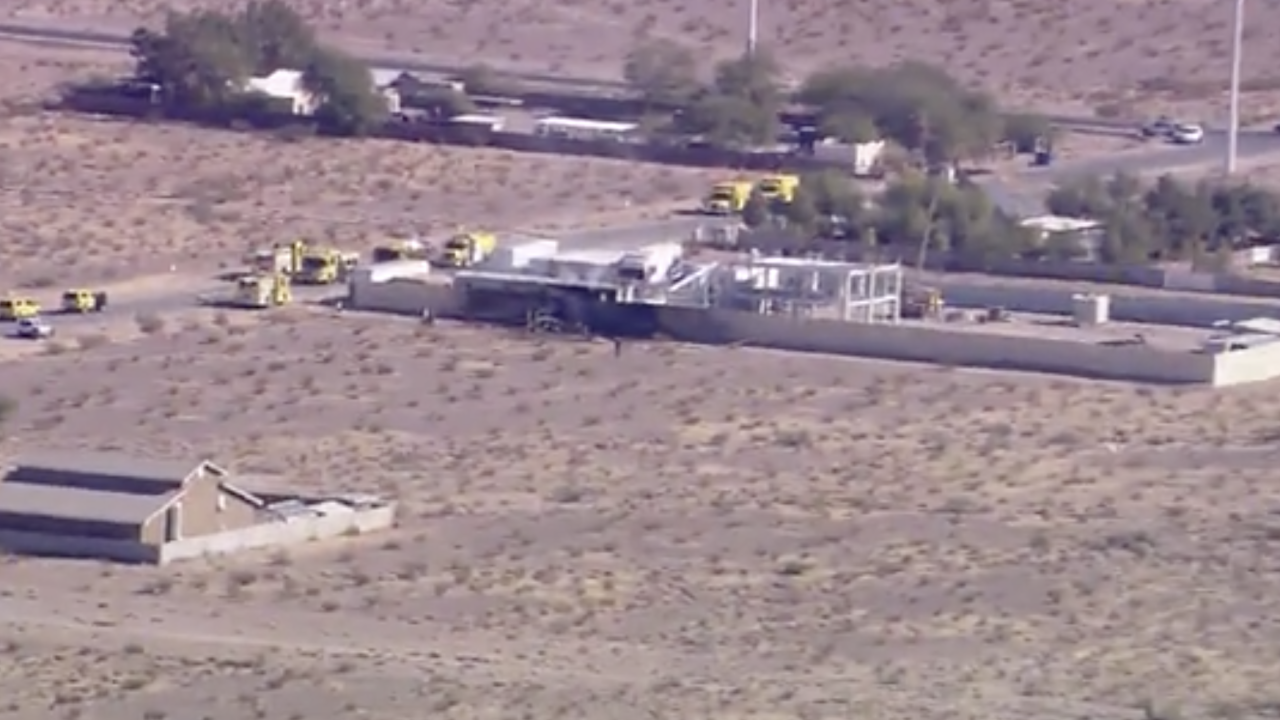 Fire official says 2 people died after plane crashed in Las Vegas