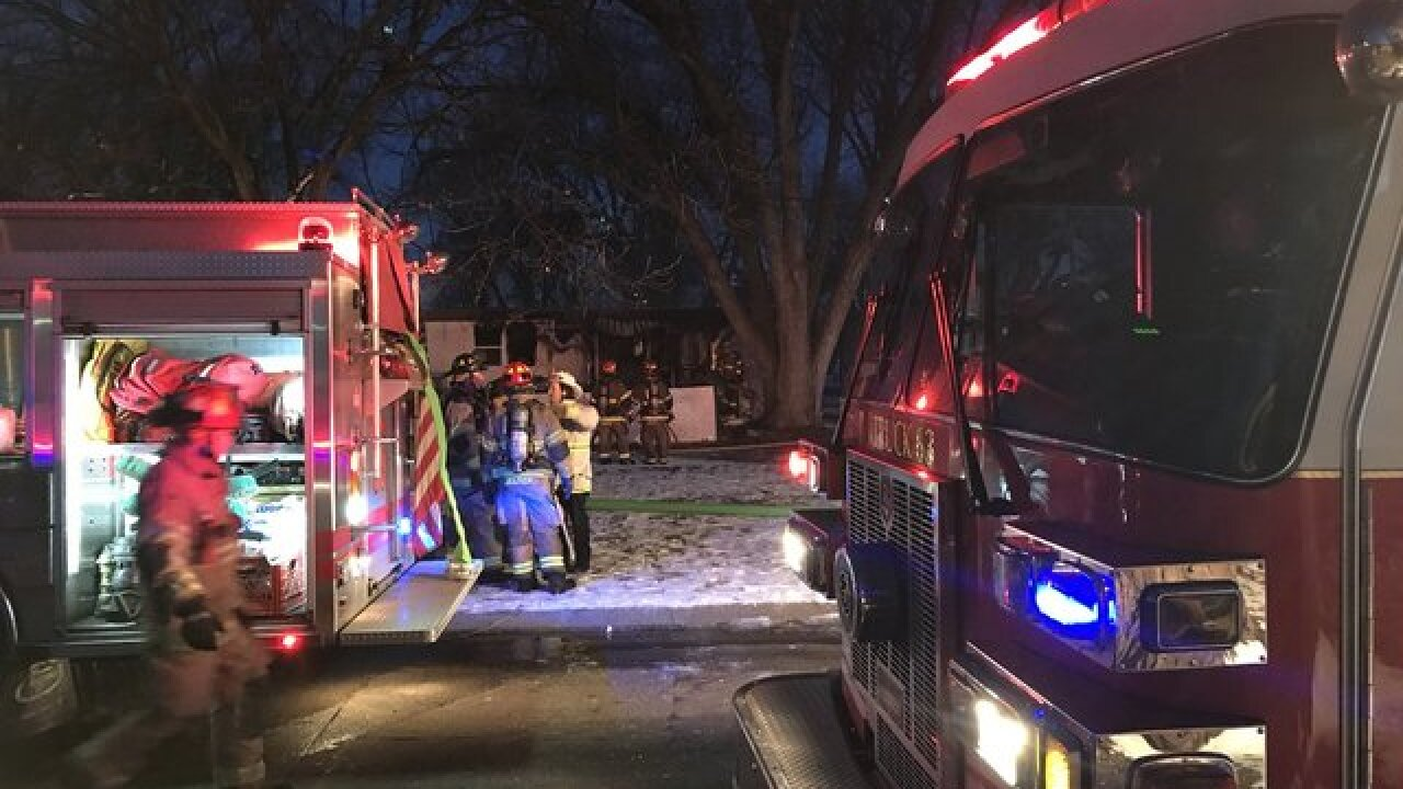 Four people escape morning fire