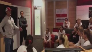 WATCH: Scott Frost gives passionate speech to Nebraska volleyball team