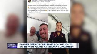 father flies with daughter