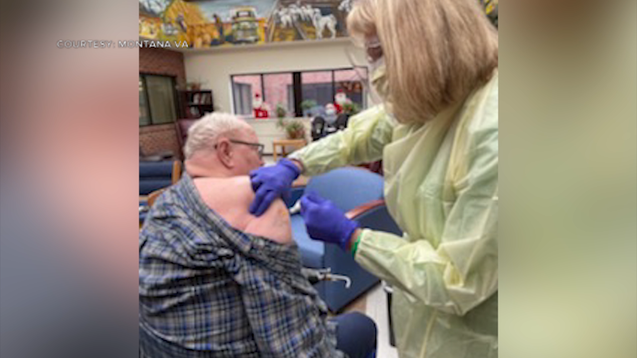 Vaccination efforts at Montana VA's Miles City Community Living Center