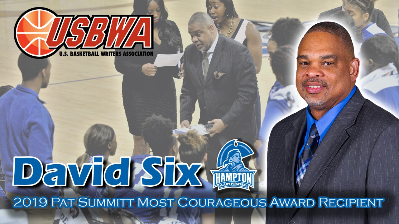 "After overcoming a stroke, Hampton University women's hoops coach David Six earns ""Most Courageous"" award"