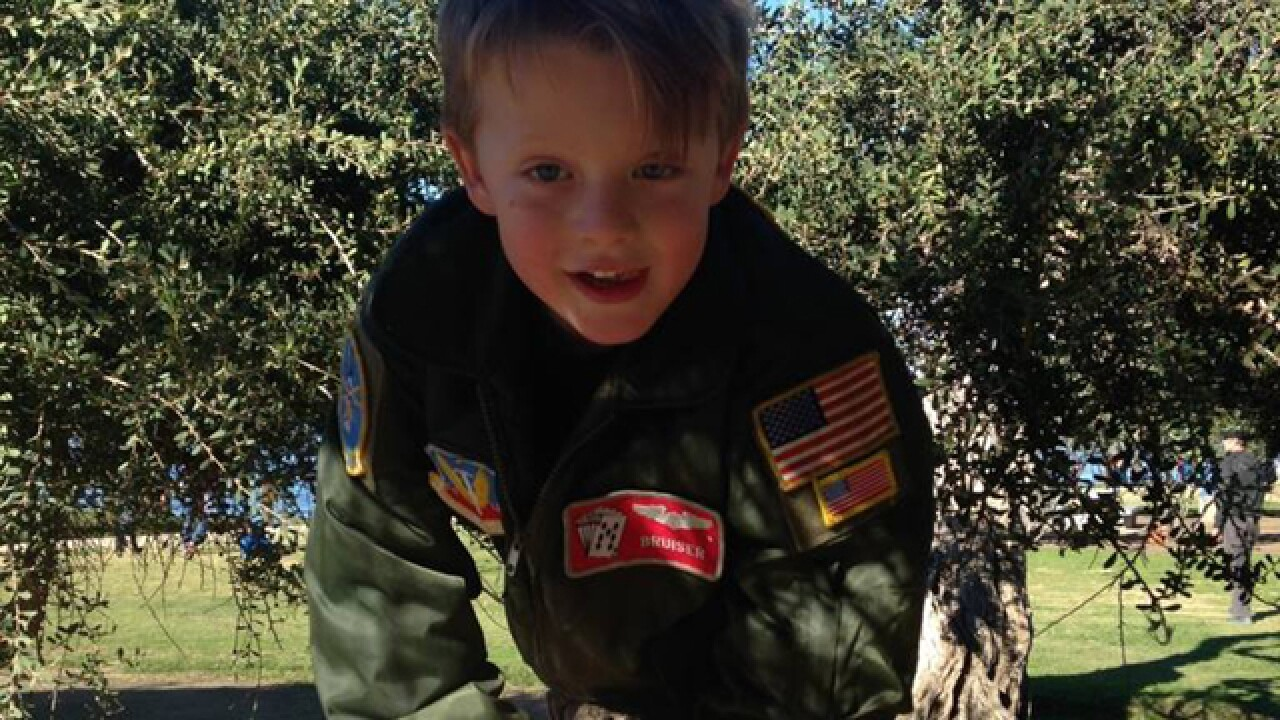 Boy loses jacket with dad's Air Force patches