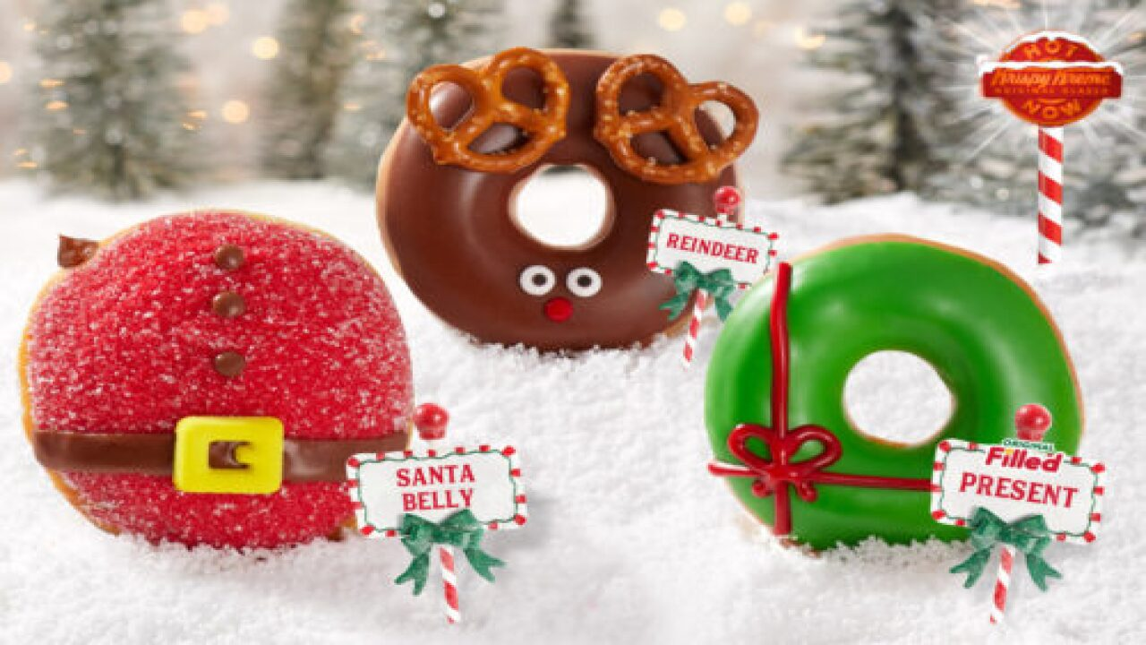 Krispy Kreme's New Chocolate-filled 'Santa Belly' Doughnuts Are So Cute