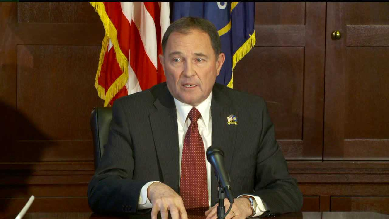 Utah's Governor says he would not marry same-sex couples