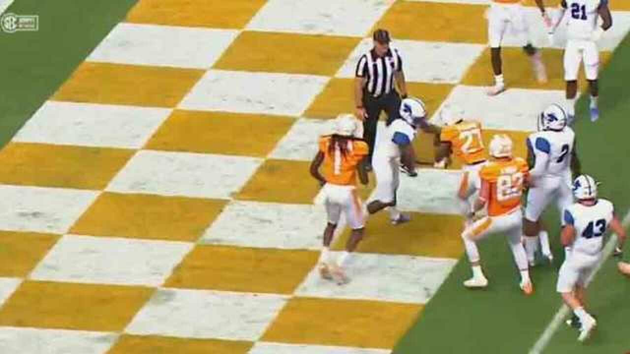 No. 25 Vols Use Fast Start To Breeze Past Indiana State 42-7
