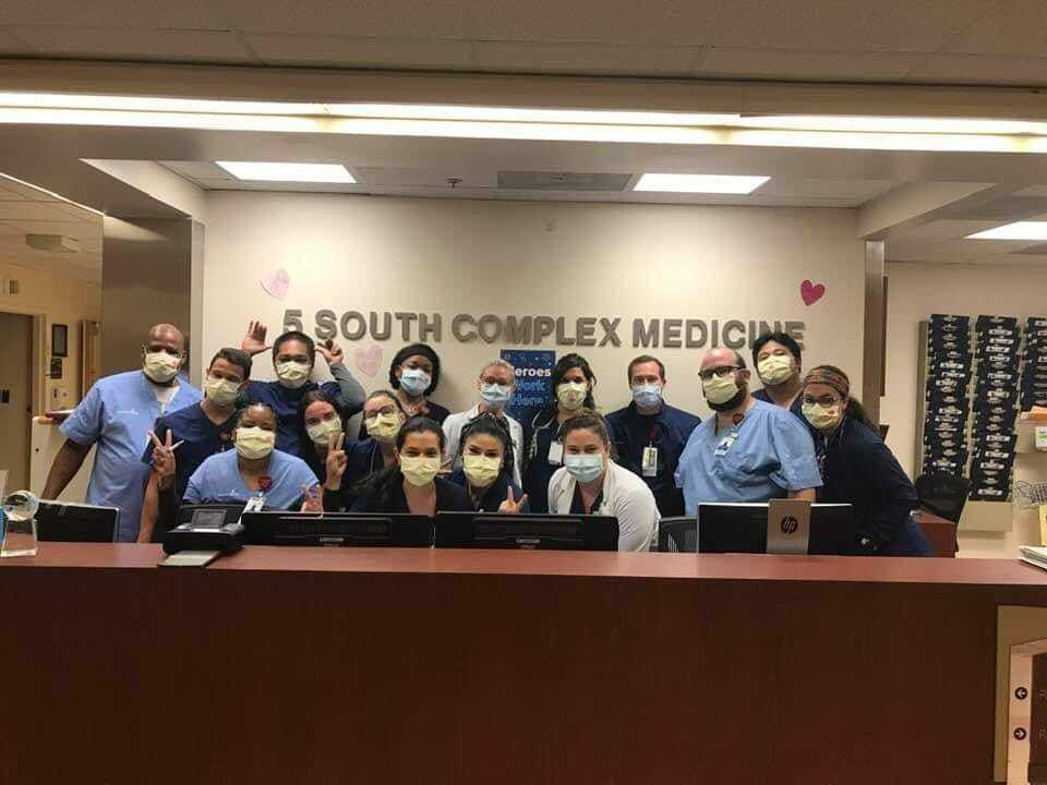 Adriana Montoya RN and coworkers at advent health in tampa.jpg