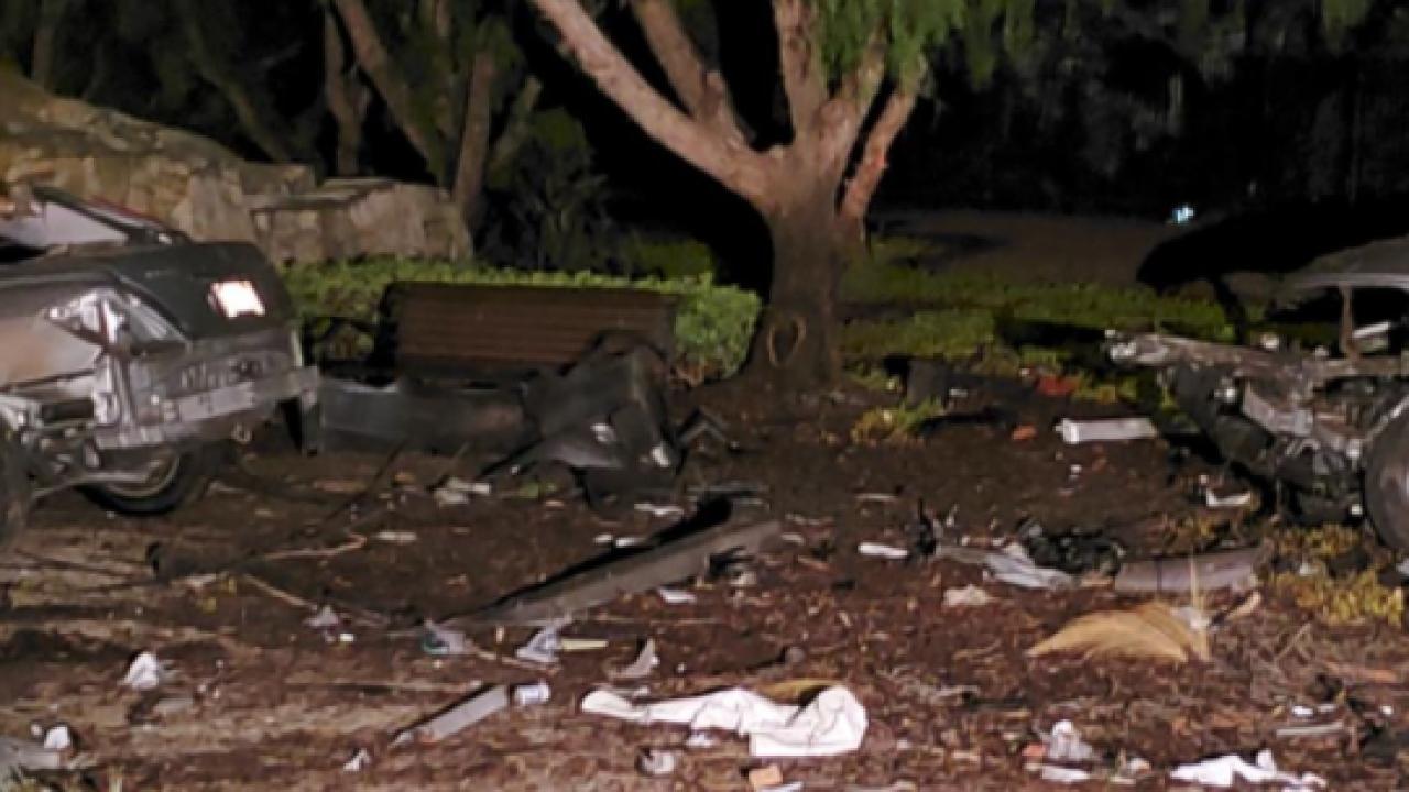 Car splits in half Carmel Mountain Ranch fatal crash
