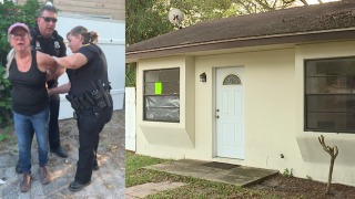 Tampa woman's attempt to kick trespassers out of her own house ends with her in handcuffs