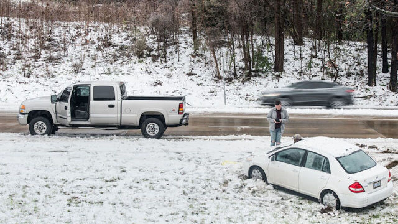 Southeast snowstorm: 500 car wrecks in 11 hours, 1 death in