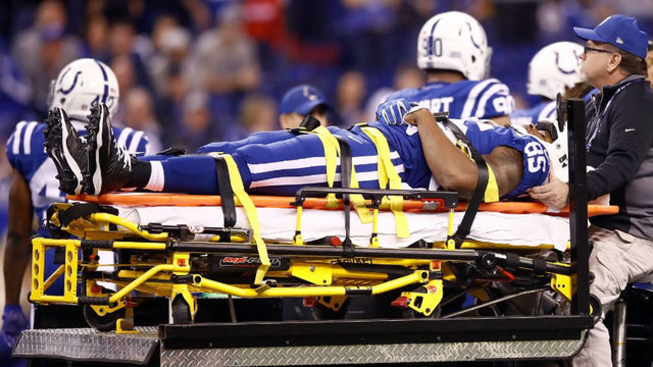 Colts TE Brandon Williams released from hospital after injury