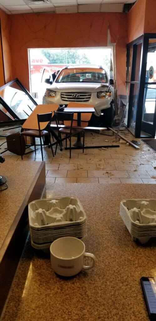 Dunkin Donuts crash Coventry
