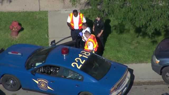 Photos from the scene as kidnapped 2-year-old Detroit girl is rescued