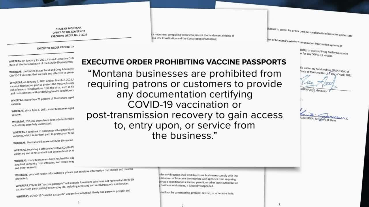 "Governor prohibits ""vaccine passports"" in Montana"