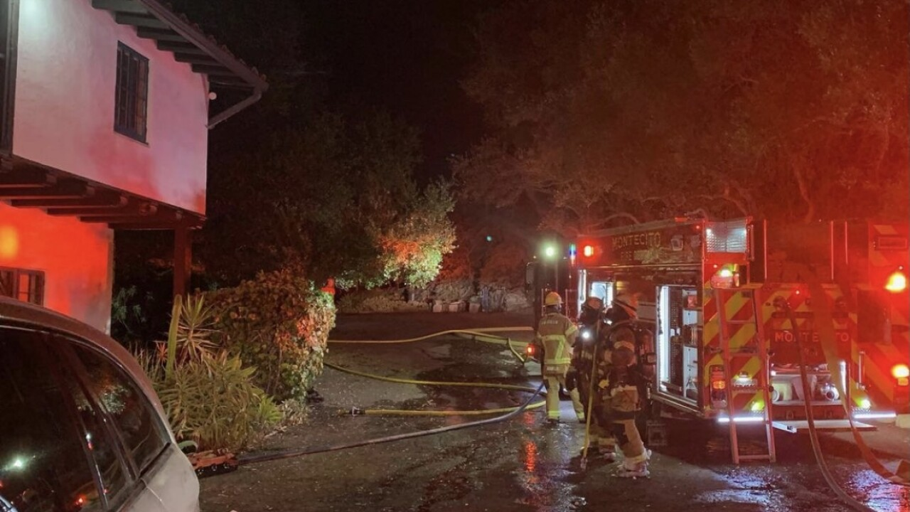 Montecito Fire Protection District crews knock down residential fire overnight