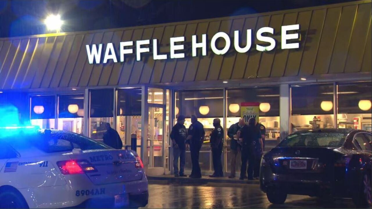 One person was injured in a shooting at a Waffle House Thursday morning.