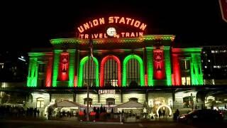 Union Station holiday lights